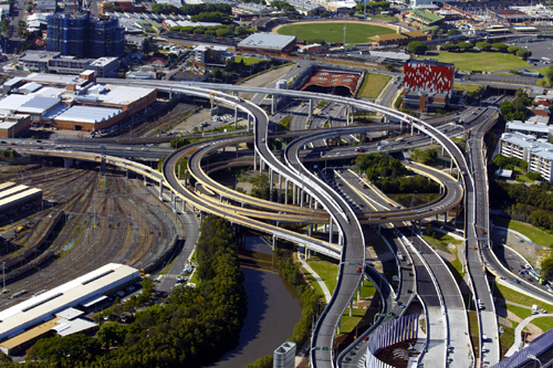 Handout photo of the Airport Link road and tunnel, a Leighton Holdings project, in Brisbane.