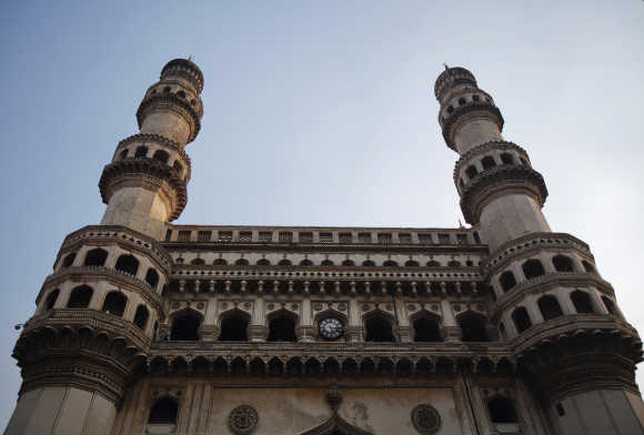 A view of the Charminar in Hyderabad.