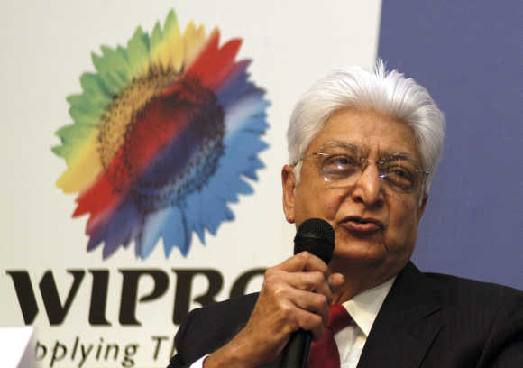 Azim Premji, Chairman of Wipro, at the Wipro campus in Bangalore.