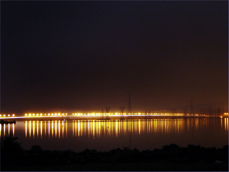 Vashi creek bridge in Navi Mumbai.