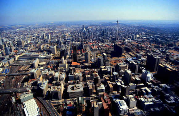 A general view of Johannesburg.