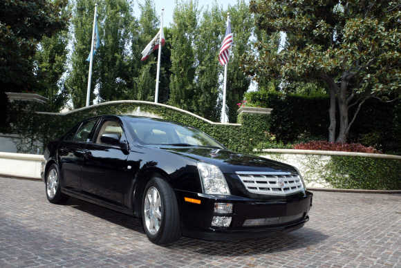 A view of the Cadillac STS.