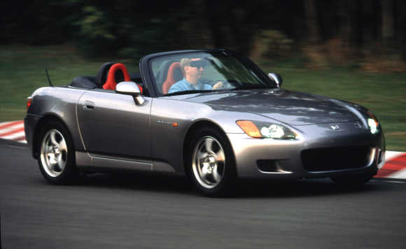 The Honda S2000 roadster makes its worldwide debut at the Los Angeles Auto Show in Los Angeles.