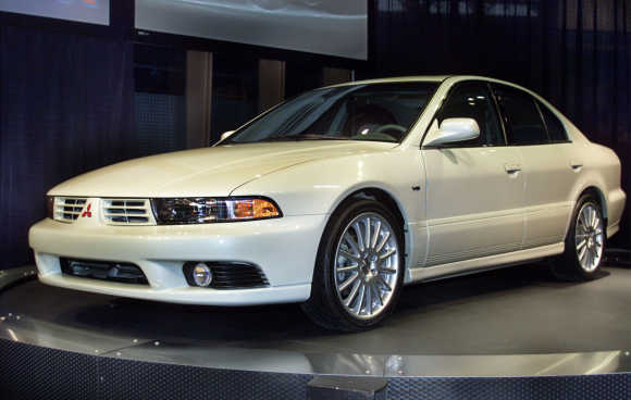 The restyled 2002 Mitsubishi Galant is introduced at the 100th Chicago Auto Show, in Chicago.
