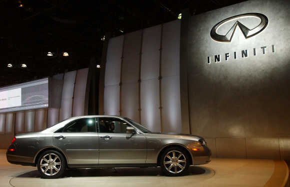 Infiniti debuted the M45 at the New York International Auto Show in Manhattan.