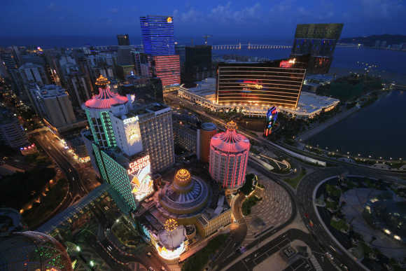 A general view of local and foreign casinos in Macau.