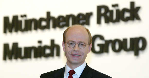 Nikolaus von Bomhard, CEO, Munich Re, attends the company