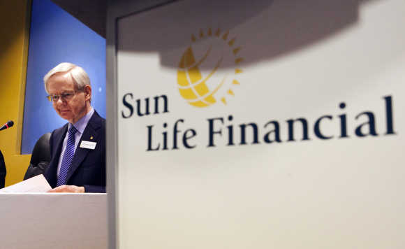 Donald Stewart, CEO, Sun Life Financial Inc, at the annual general meeting for shareholders in Toronto.