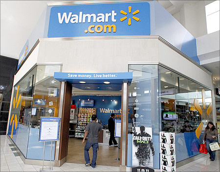 A view of a Wal-Mart.com store at the Topanga Plaza in Canoga Park, California.