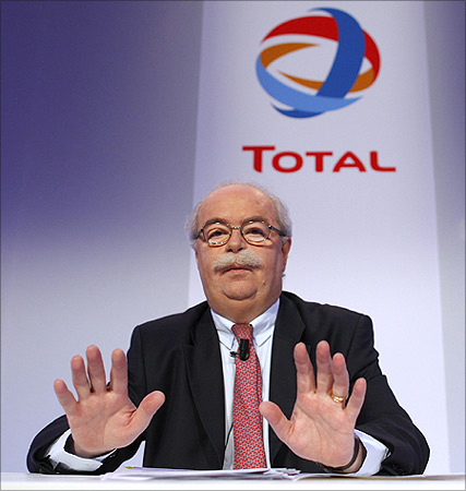 French oil company Total CEO Christophe de Margerie.
