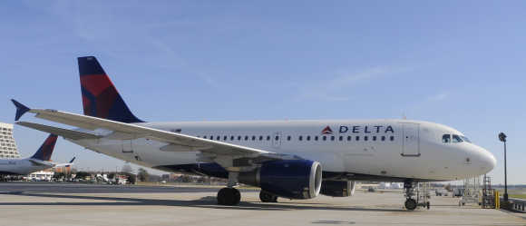 Delta Airlines Airbus A319 at Hartsfield-Jackson International Airport in Atlanta.