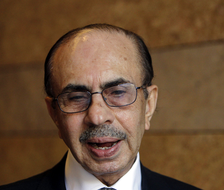 Chairman of The Godrej Group Adi Godrej speaks on the sidelines of the World Economic Forum India Economic Summit in Mumbai.