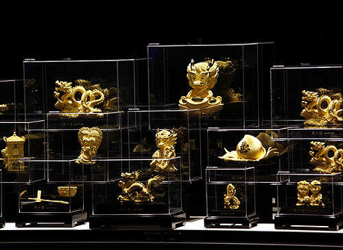 Figurines in 24K gold.