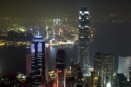 Hong Kong's financial district.