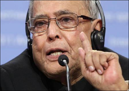 Pranab Mukherjee was on a roll at the Peterson Institute for International Economics.