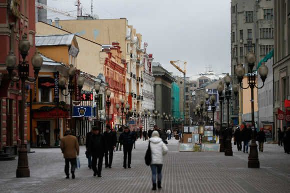 A general view of the Arbat street in Moscow, Russia.