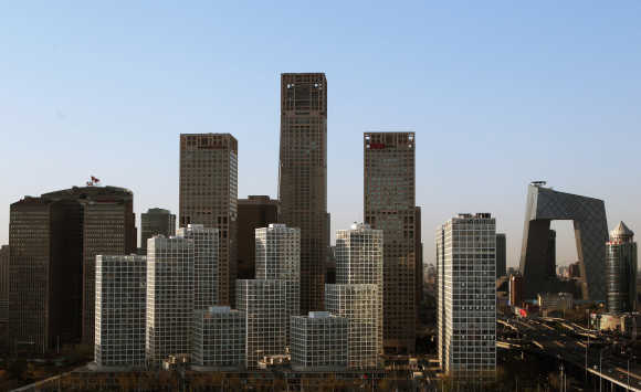 A general view of Beijing Central Business District.