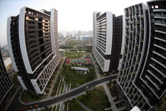 A general view of the Asian Games Town Media Village in Guangzhou, China.