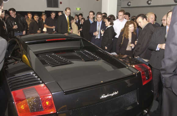 Lamborghini Gallardo at Rushcutter Bay, Sydney.