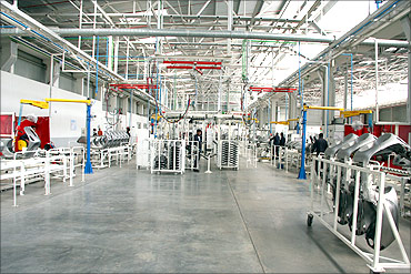 Vespa factory in Baramati.
