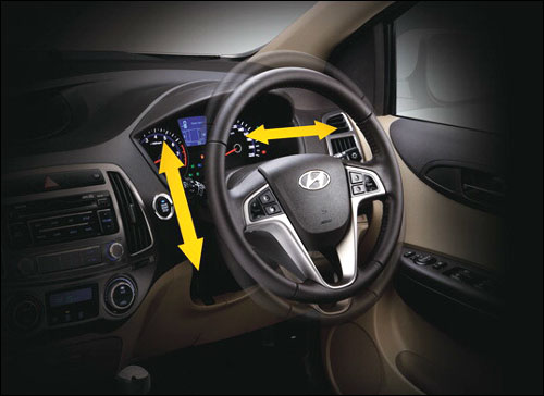 Tilt and telescopic steering.