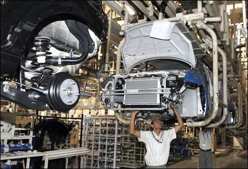 A car manufacturing unit.