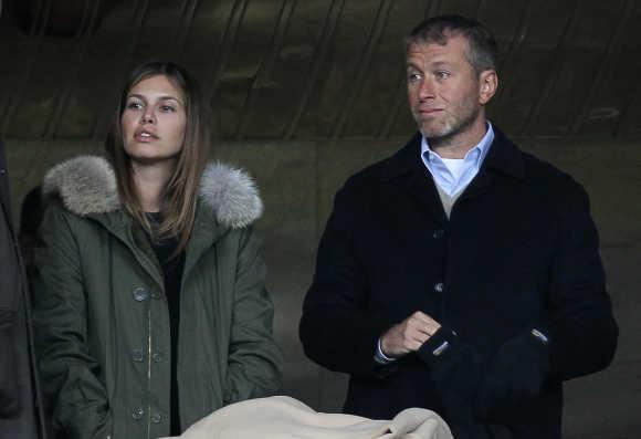 Roman Abramovich with his girlfriend Daria Zhukova.