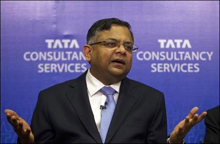 N Chandrasekaran, chief executive officer (CEO) and managing director (MD) of Tata Consultancy Services.