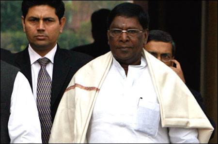 V Narayanasamy, minister of state in the Prime Minister's Office.