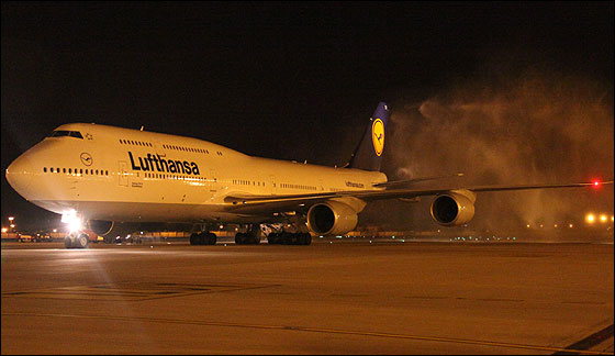 Lufthansa flies world's newest aircraft to India
