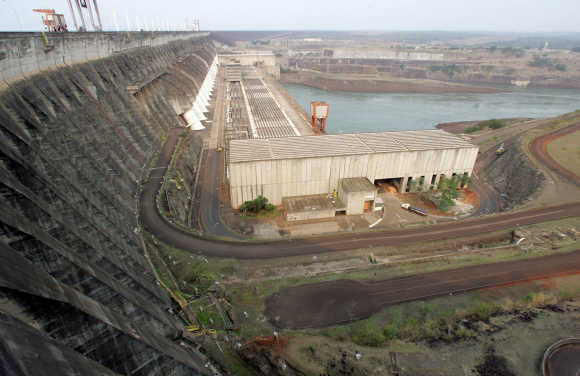 A view of the Itaipu Hydroelectric dam.