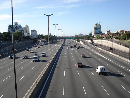 Pan-American Highway in the Greater Buenos Aires, Argentina.