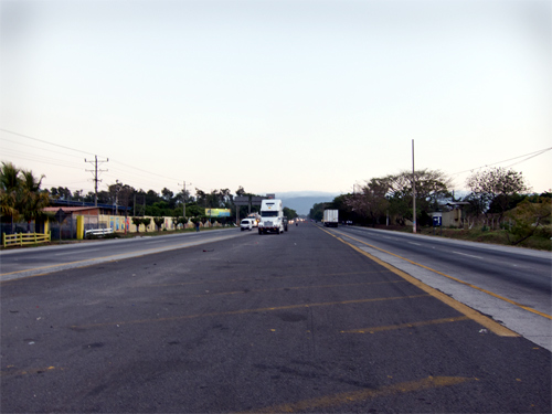 Pan-American Highway in El Salvador.