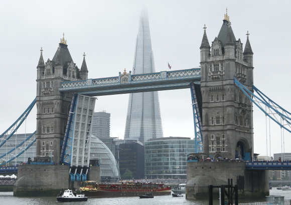 A view of Tower Bridge in London.