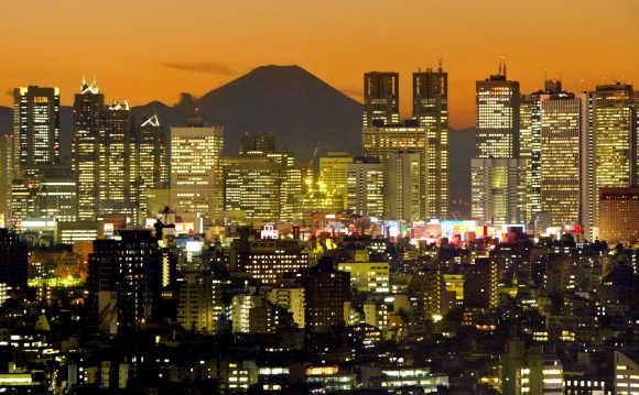A view of Tokyo's Shinjuku district.