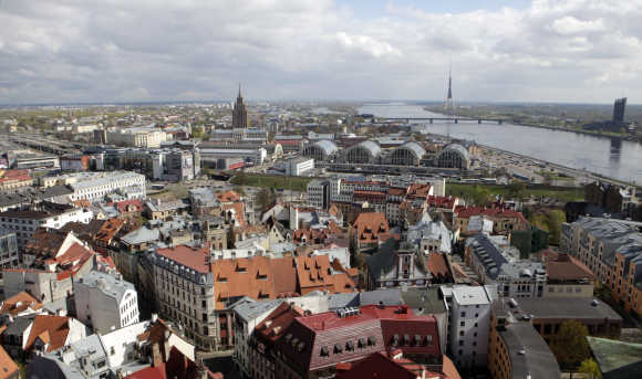 A view of Riga's Old City.