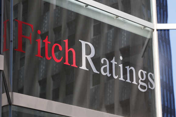 Fitch Ratings building is seen in New York.