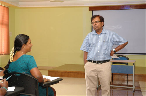 Kolandei Francis and Muniratnam, chief co-ordinator of  SHGs.
