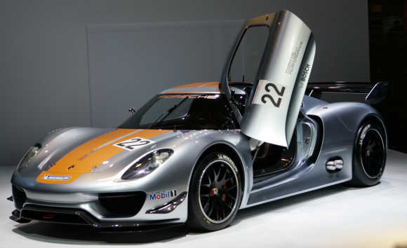Porsche 918 RSR in Detroit, Unites States.