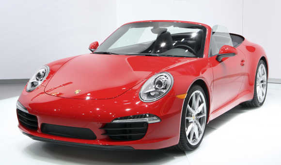 Convertible version of the Porsche 2012 911 Carrera Coupe in Detroit, Unites States.