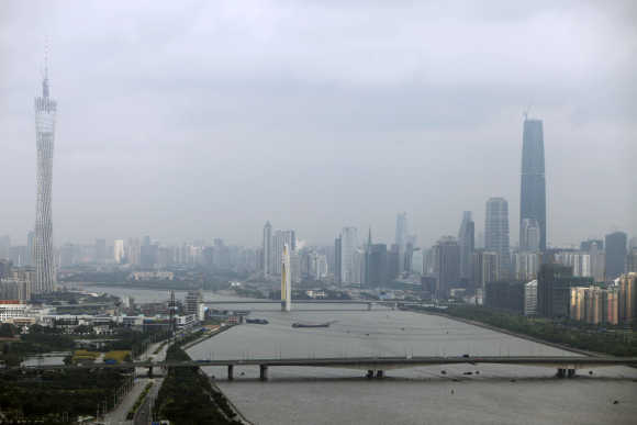 View of Chinese city of Guangzhou.