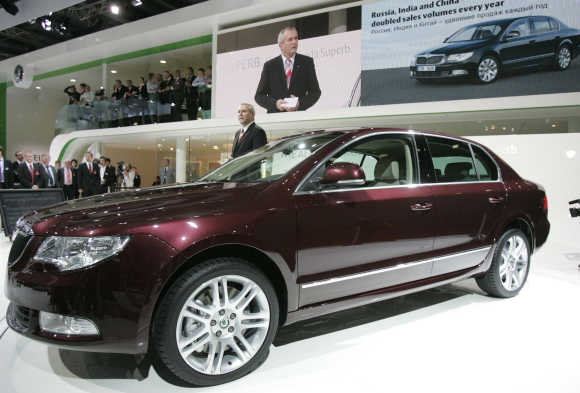 Skoda Superb V6 3.6 in Moscow.