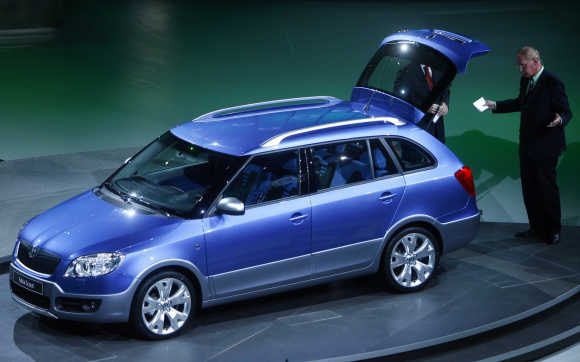 Skoda's Fabia station wagon in Frankfurt.