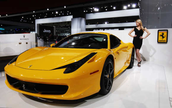 Ferrari 458 Italia in Detroit, United States.