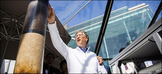 Bill Gates at the toilet fair.