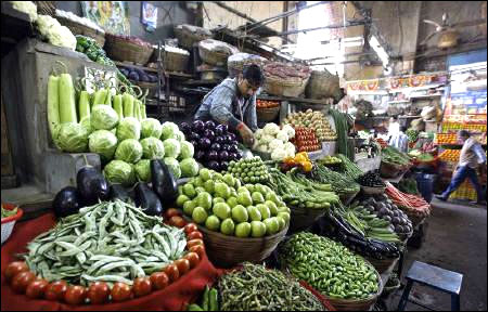 Vegetable prices push up retail inflation to 10.03%