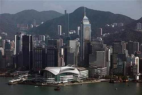 A view of Hong Kong's financial district