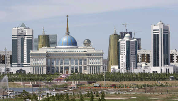 A view of the centre of Astana.