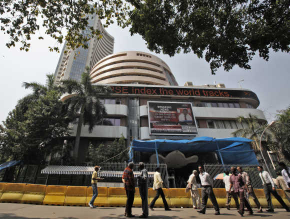 A view of the Bombay Stock Exchange