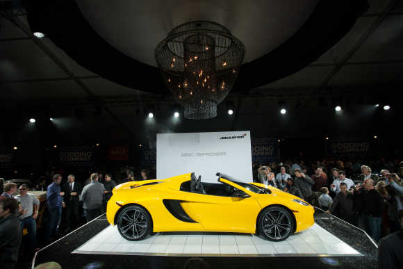Amazing images of supercar McLaren Spider